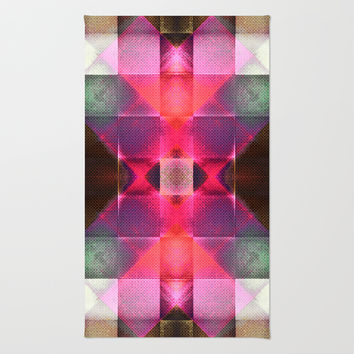 CHECKED DESIGN III Rug by Pia Schneider [atelier COLOUR-VISION] #art #geometric #pattern #rug #carpet #abstract #pink #arearug #roomdecor
