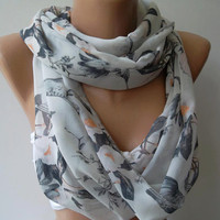 ON SALE Infinity Scarf Loop Scarf Circle Scarf - Elegant - It made with good quality chiffon fabric.....Super Loop