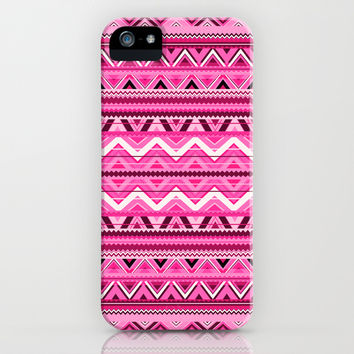 Pink #3 iPhone & iPod Case by Ornaart