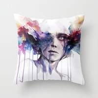l'assenza Throw Pillow by Agnes-cecile