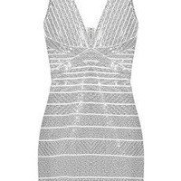 Hervé Léger | Sequined bandage mini dress | NET-A-PORTER.COM