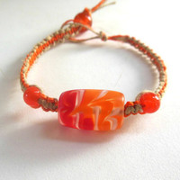 HEMP BRACELET Macrame For Women Orange Dreamsicle