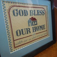 God Bless Our Home Cross Stitch