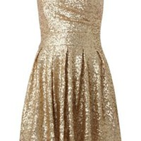 Sweetheart sequin puff skirt dress