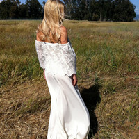 Off The Shoulder Vintage Wedding Dress - Rosie