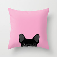 French Bulldog Throw Pillow by Anne Was Here