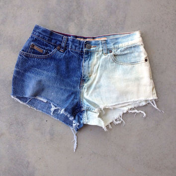 SALE- Cheeky Half & Half Bleached Prototype Shorts