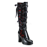Demonia Lace Overlay Corseted Boots :: VampireFreaks Store :: Gothic Clothing, Cyber-goth, punk, metal, alternative, rave, freak fashions