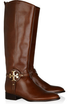 Tory Burch|Aaden leather boots|NET-A-PORTER.COM