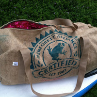 PIPER Travel Duffel Bag Handmade from a by WhiteAppleThreads