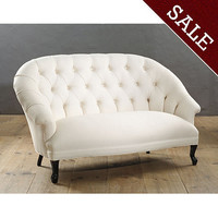 Wickham Tufted Settee | Upholstery | Ballard Designs