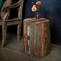 Reclaimed Wood Weathered Tanki Table (India) | Overstock.com