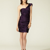Vera Wang Lavender Label One Shoulder Cocktail Dress
