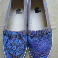 Purple Flats Women's size 8 Custom Made Shoes