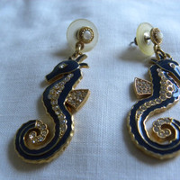 Vintage seahorse earrings