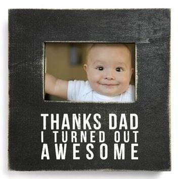 Primitives by Kathy 'Thanks Dad' Box Sign Picture Frame - Black (4x6)