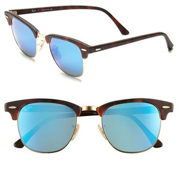 Menx27s Ray-Ban x27Flash Clubmasterx27 51mm Sunglasses