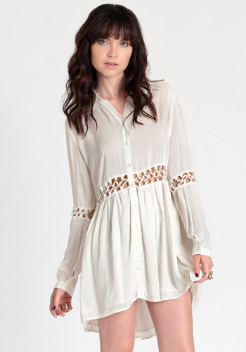 Blanc Cutout Dress By Stylestalker - $138.00: ThreadSence, Women's Indie & Bohemian Clothing, Dresses, & Accessories