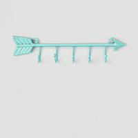 Blue Arrow Hook Wall Decor
