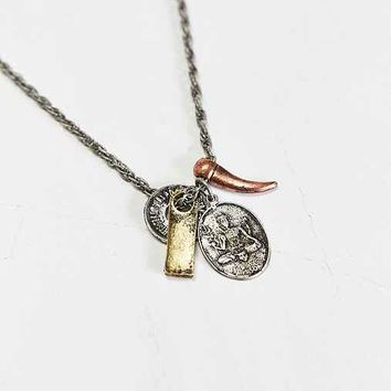 Mixed Charm Necklace- Silver One