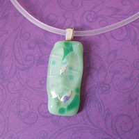 Mint Green Necklace - Bud is Wiser - 1733 -1