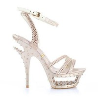 Diamond Crystal Sandals Golden