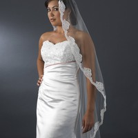 Bridal Single Layer Cathedral Length Veil