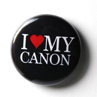 I Love My Canon 1 inch Button Pin or Magnet by snottub on Etsy
