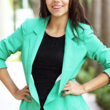The Green Charlotte Blazer