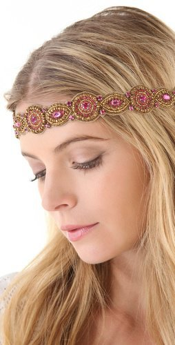 Deepa Gurnani Fuchsia Embellished Headband | SHOPBOP