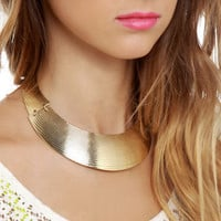 Cute Collar Necklace - Statement Necklace - Gold Necklace - $14.00