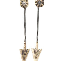 tribal-arrow-earrings DKGOLD DKSILVER - GoJane.com