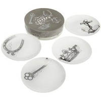 Amazon.com: Rosanna Table Charms Dessert, Set of 4: Kitchen & Dining