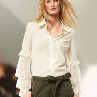 Lace sleeve blouse at Newport-News.com