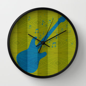 Electric Guitar Wall Clock by Ornaart