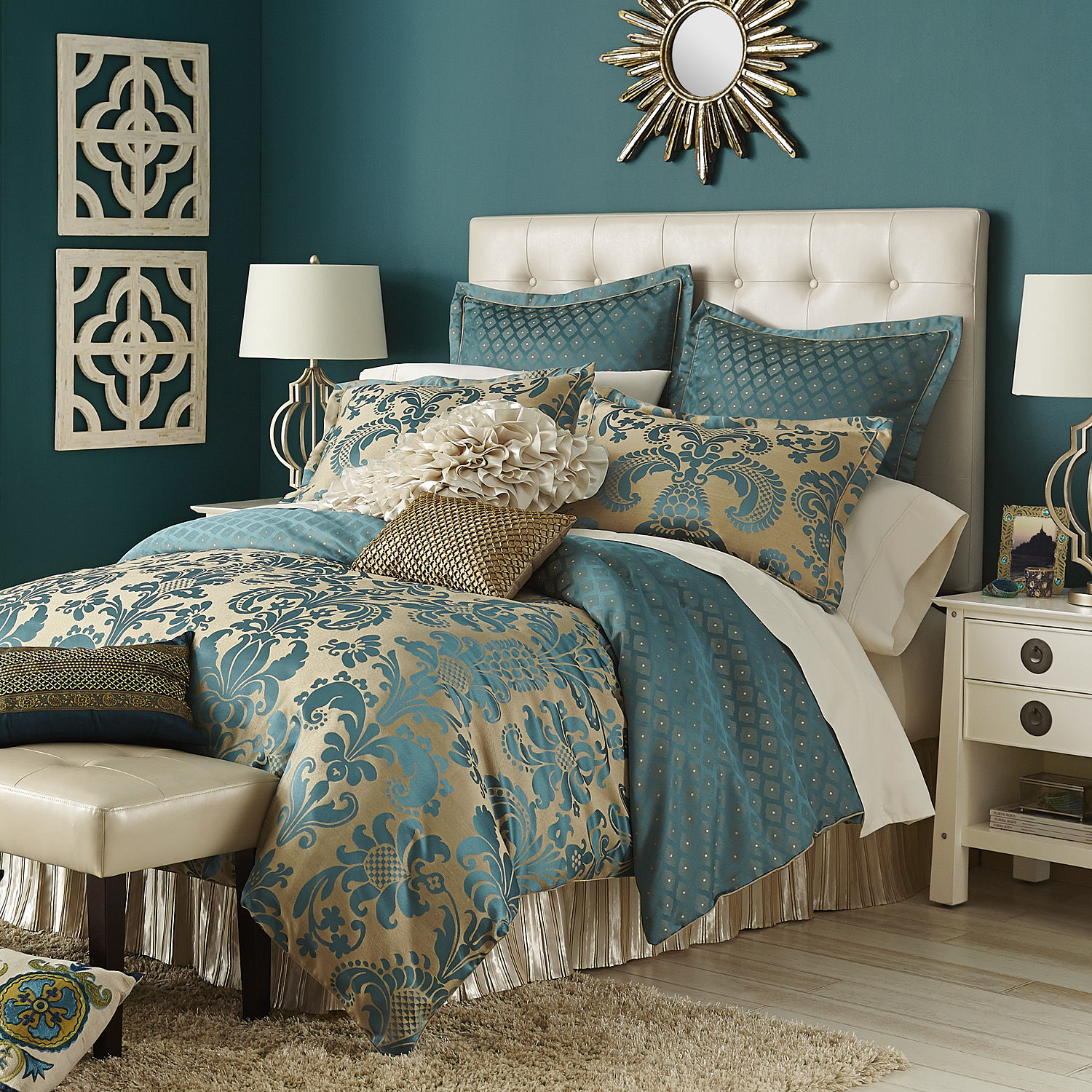 Calibri Jacquard Bedding Amp Duvet Teal From Pier 1 Imports