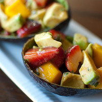 Pink Parsley: Strawberry, Mango, and Avocado Salad
