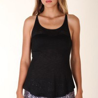 BLACK SCOOP NECK RACERBACK @ KiwiLook fashion