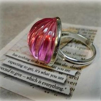 Ballet Pink Lovely Adjustable Ring especially from by pink80sgirl