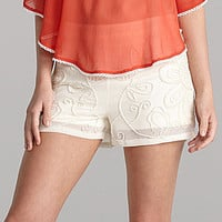 Gianni Bini Alicia Floral Beaded Shorts | Dillards.com