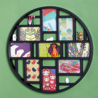 ModCloth Dorm Decor, Scholastic Round Here Photo Frame in Black