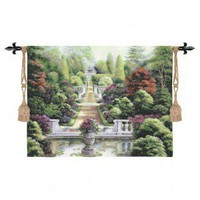 Fine Art Tapestries Rose Garden I Tapestry - Betsy Brown - 2055-WH - All Wall Art - Wall Art &amp; Coverings - Decor