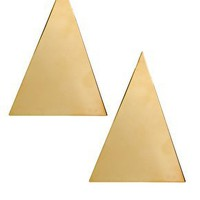 ASOS Gold Triangle Earrings at asos.com
