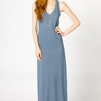 Audrey Racerback Maxi in Slate Blue | a-thread