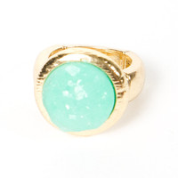 Mint Circle Ring | a-thread