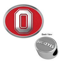 334088-CB-177C Ohio State Buckeyes Enamel Collegiate Bead