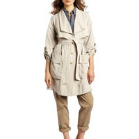 Robert Rodriguez Women`s Double Collar Trench Coat