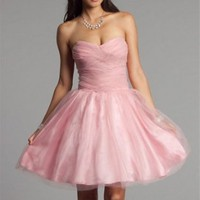 Cheap Taylor-Pink Prom Dresses