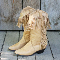 Vintage Fringed Dingo Boots, Sweet Country Inspired Vintage Clothing