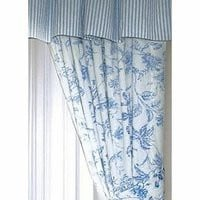Brighton Blue Toile Draperies | Atlantic Linens